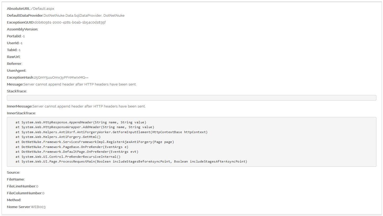 Server cannot append header after HTTP headers have been sent